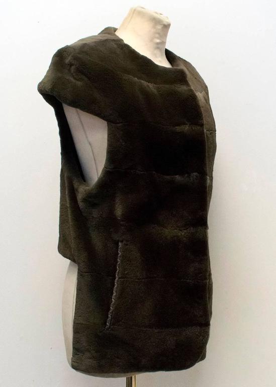 PA5H Brown Cap Sleeve Mink Fur Jacket 9