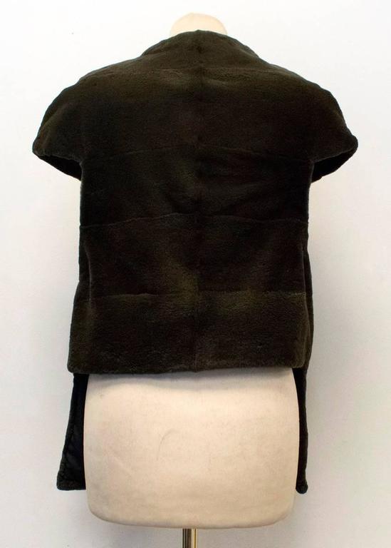 PA5H Brown Cap Sleeve Mink Fur Jacket 8