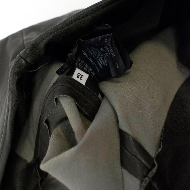 Balenciaga Dark Brown Leather Trousers For Sale 1