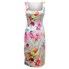 Dolce & Gabbana Floral Silk Pencil Dress