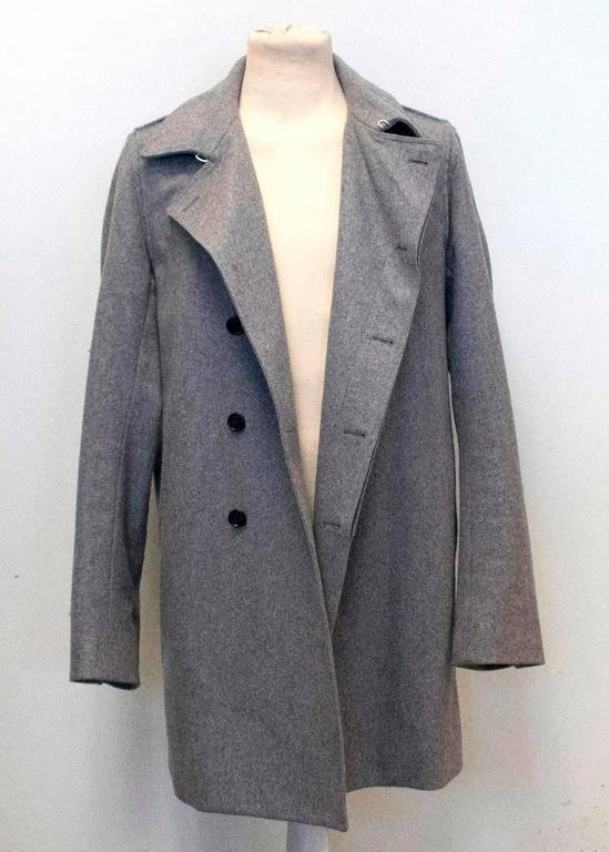 Christian Dior Men S Grey Wool Coat For Sale At 1stdibs