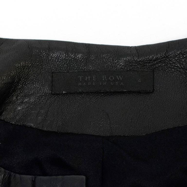 The Row Black Leather Jacket 3