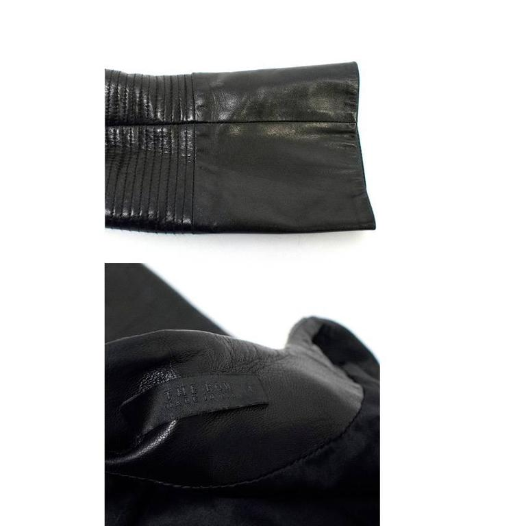 The Row Black Leather Jacket 2