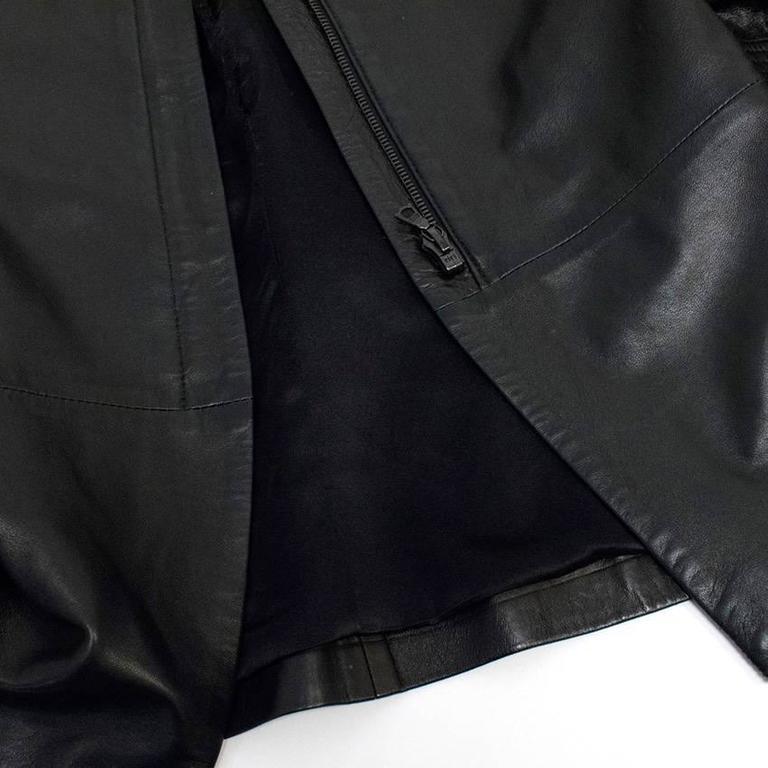 The Row Black Leather Jacket 4