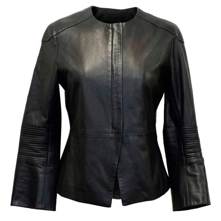 The Row Black Leather Jacket 1
