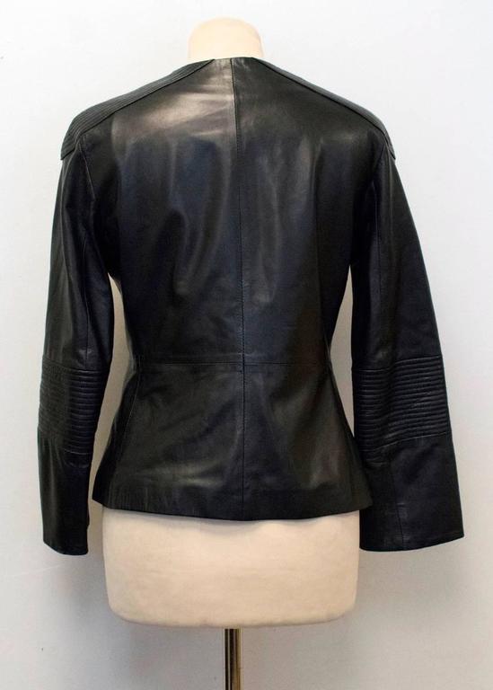 The Row Black Leather Jacket 6