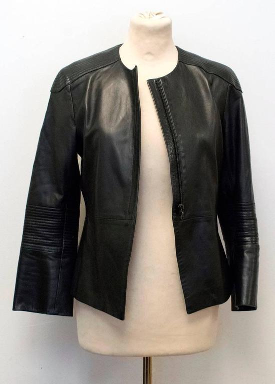 The Row Black Leather Jacket 8
