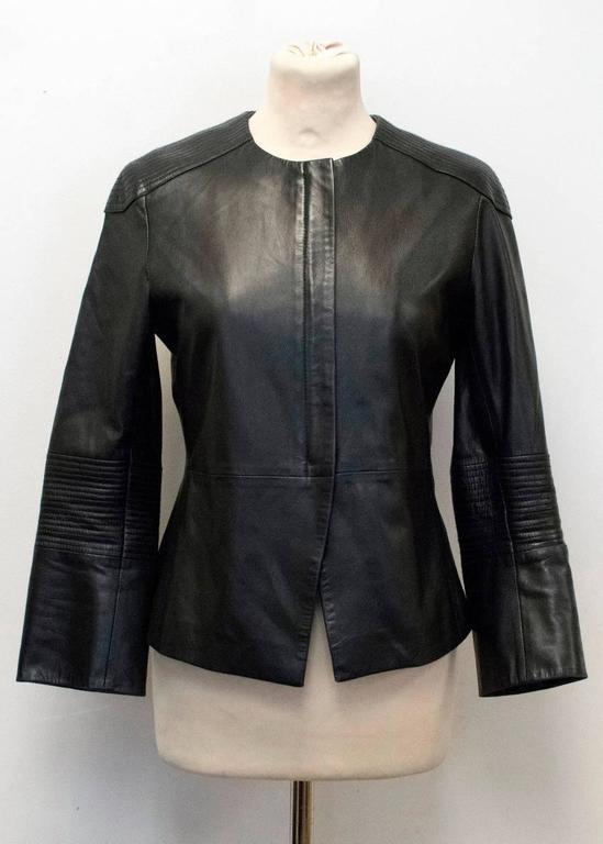 The Row Black Leather Jacket 9