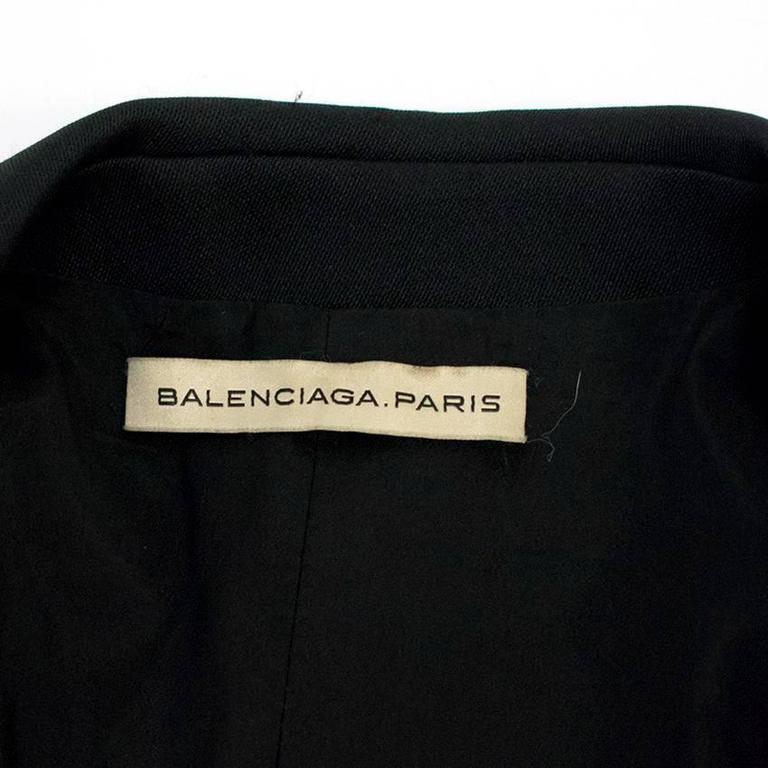 Balenciaga Black Blazer with Pockets  4