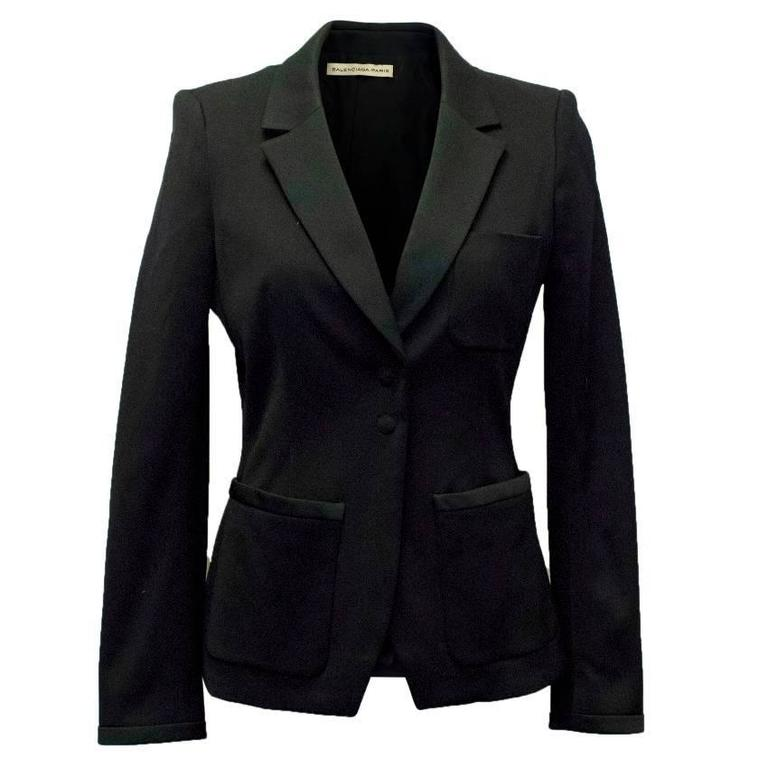 Balenciaga Black Blazer with Pockets  1
