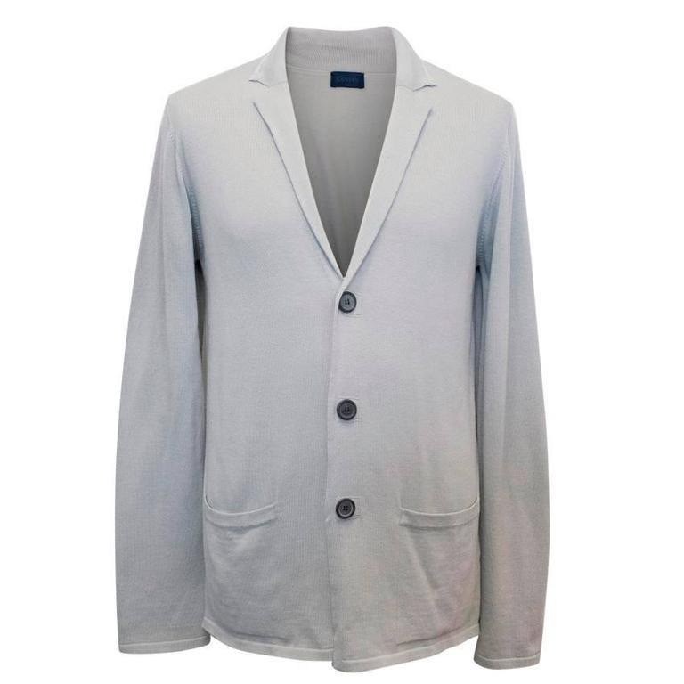e6b19ec97a6ec Lanvin Men s Grey Cardigan with Peak Lapel For Sale at 1stdibs