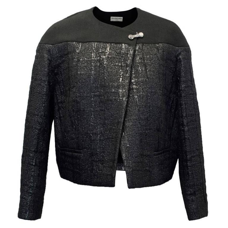 Balenciaga Black Textured Jacket 1