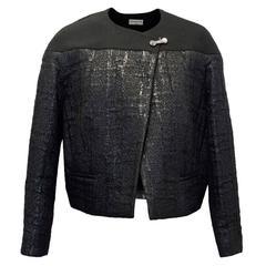 Balenciaga Black Textured Jacket