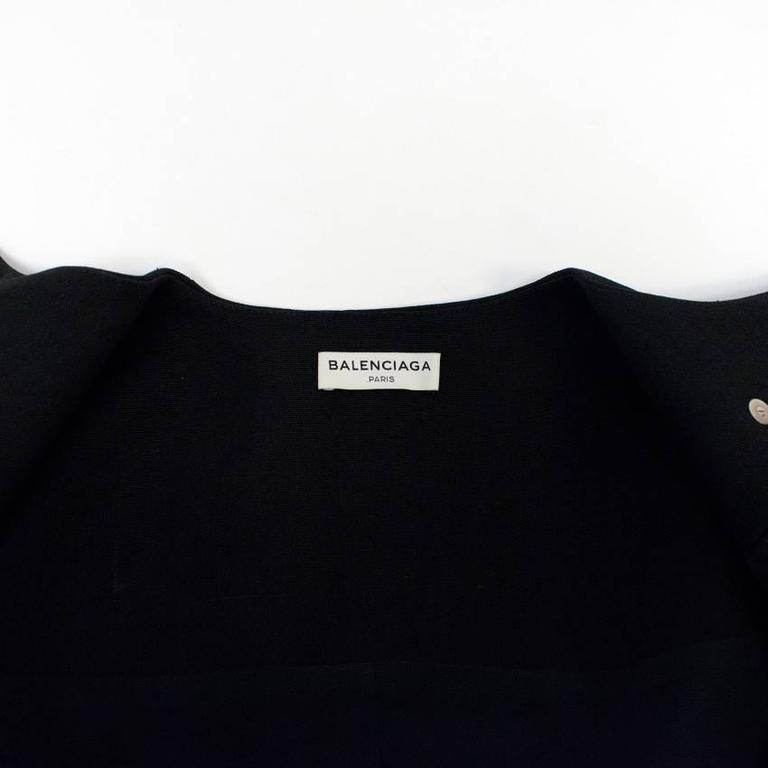 Balenciaga Black Textured Jacket 2