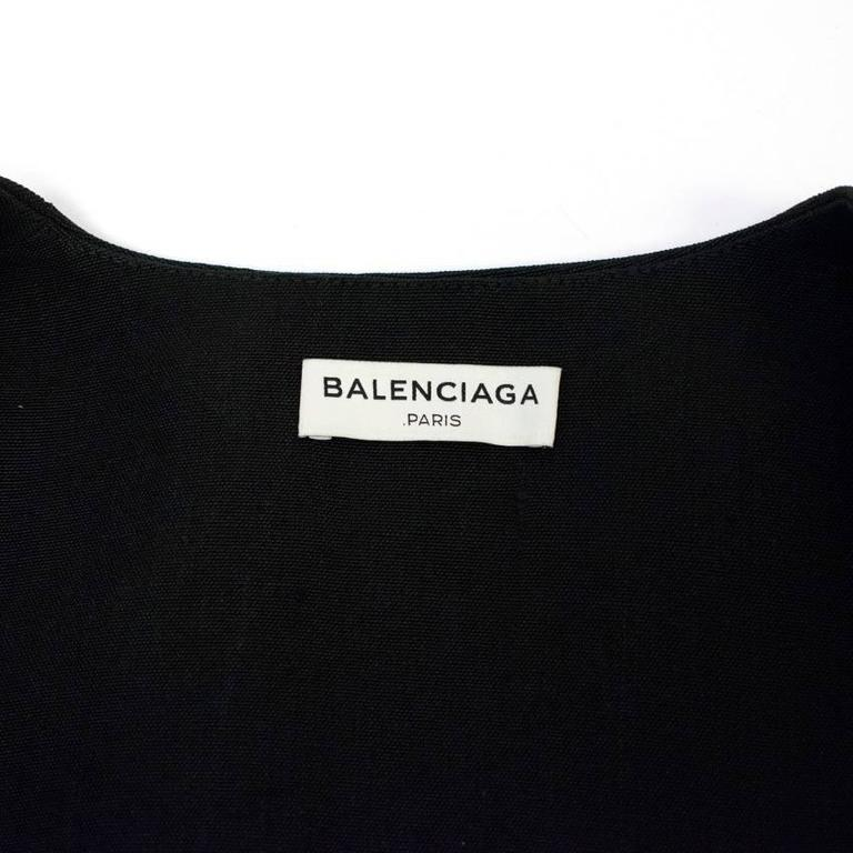 Balenciaga Black Textured Jacket 3