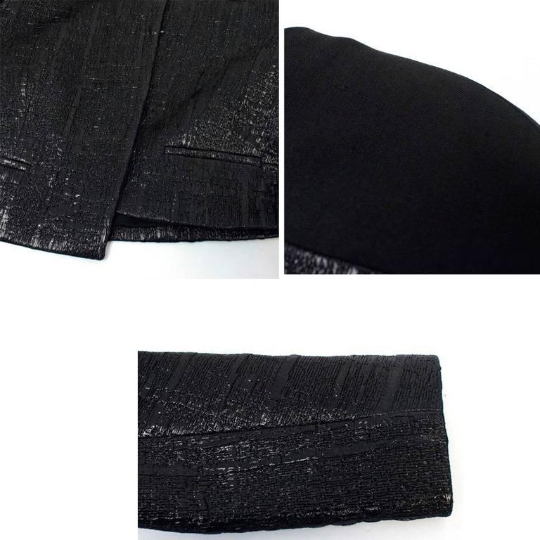Balenciaga Black Textured Jacket 5
