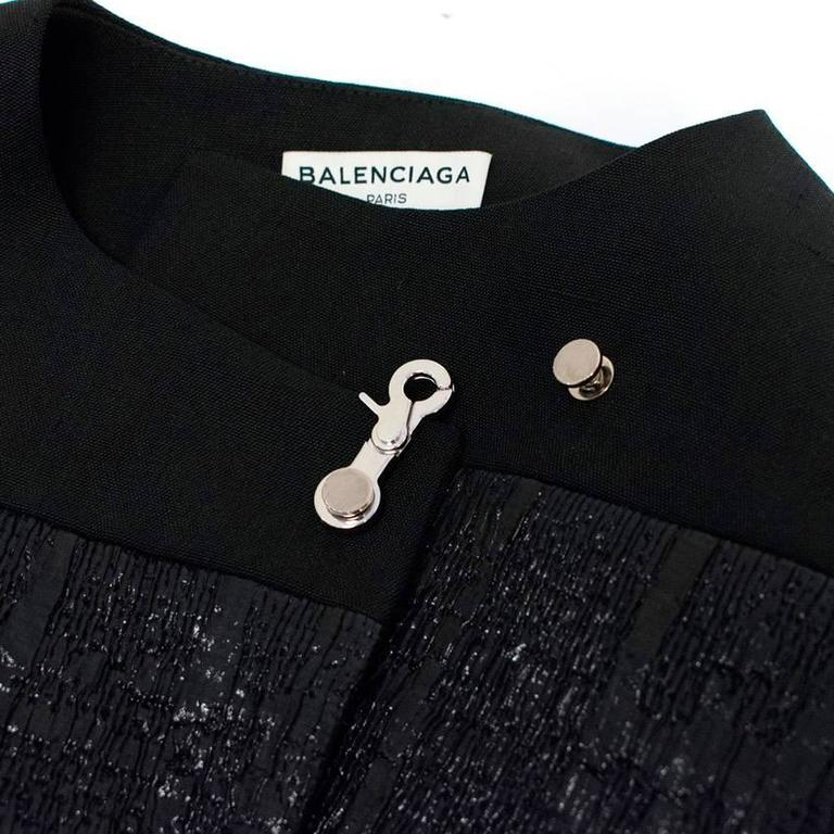 Balenciaga Black Textured Jacket 6
