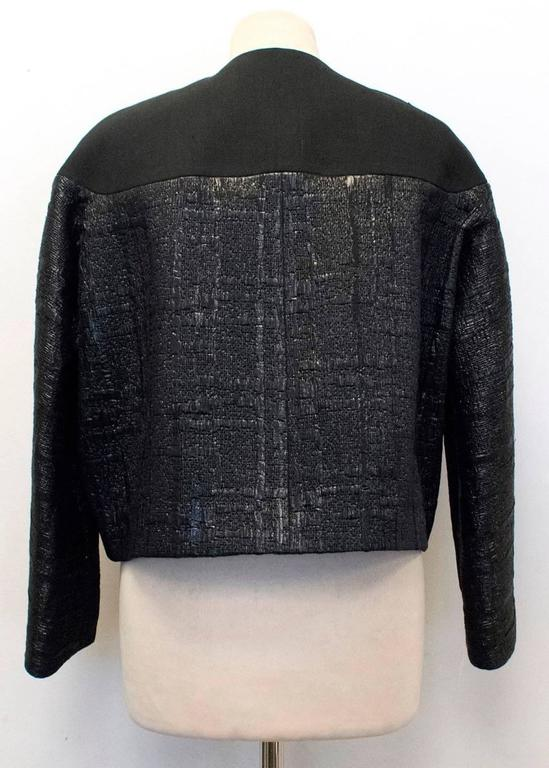 Balenciaga Black Textured Jacket 9