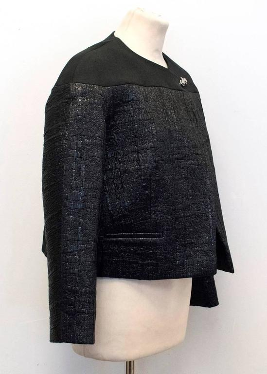 Balenciaga Black Textured Jacket 7