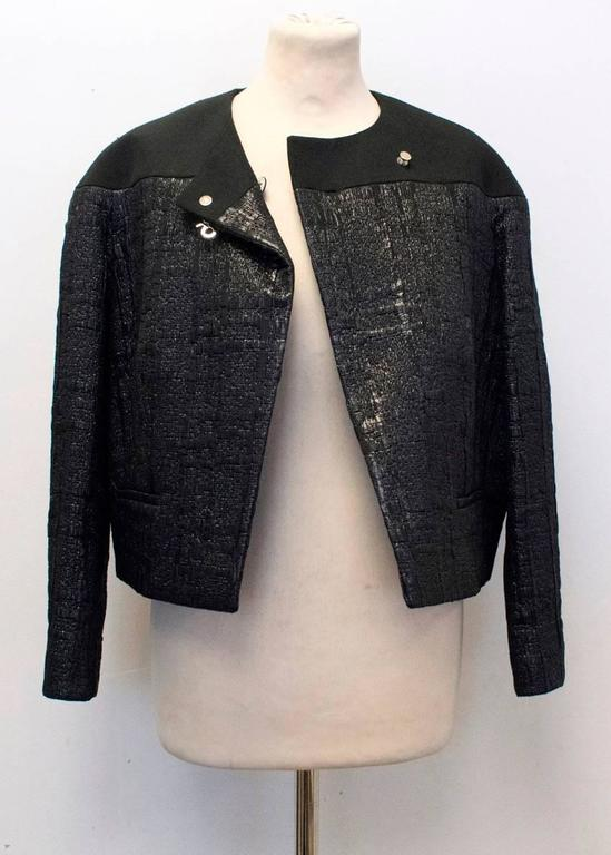 Balenciaga Black Textured Jacket 8