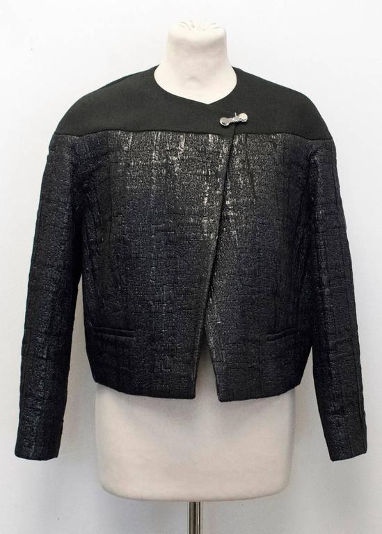 Balenciaga Black Textured Jacket 10