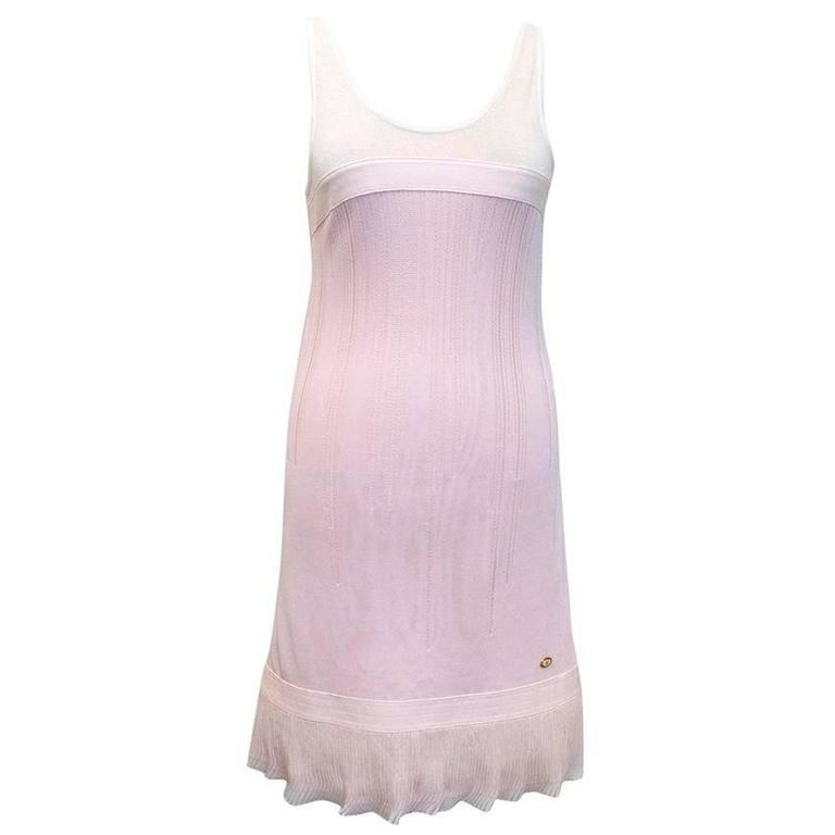 Chanel Pink and White Sleeveless Dress 1