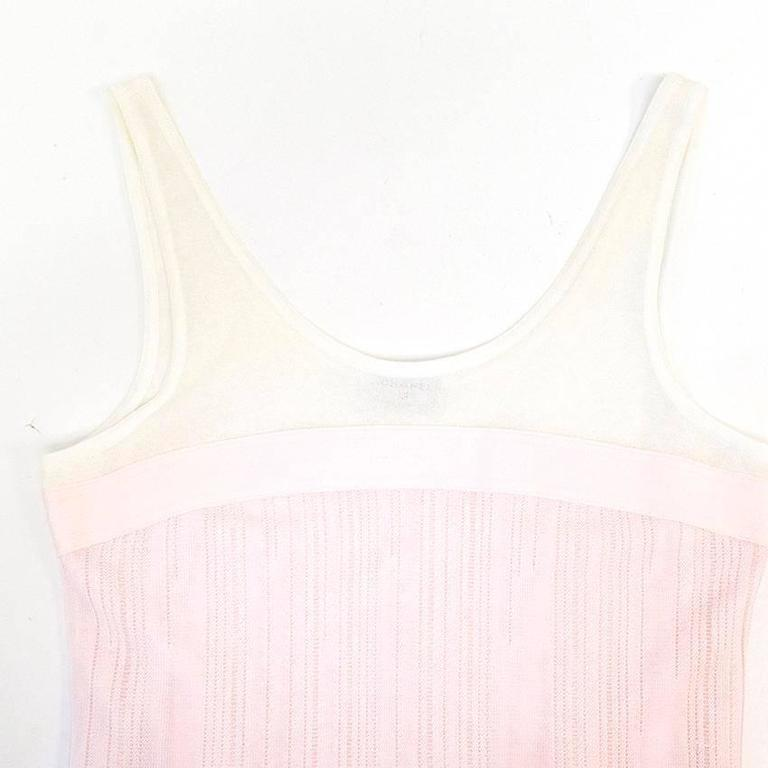 Chanel Pink and White Sleeveless Dress 2