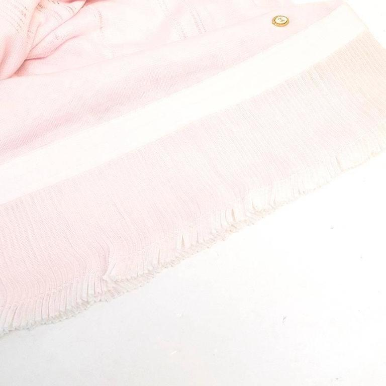 Chanel Pink and White Sleeveless Dress 5
