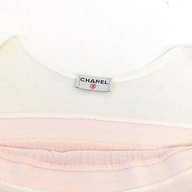 Chanel Pink and White Sleeveless Dress 3