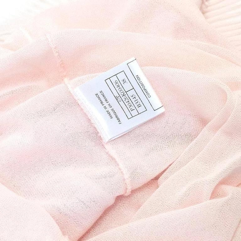 Chanel Pink and White Sleeveless Dress 4
