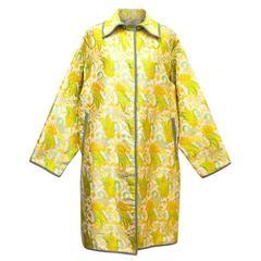 Prada Yellow, Green & Gold Brocade Evening Coat