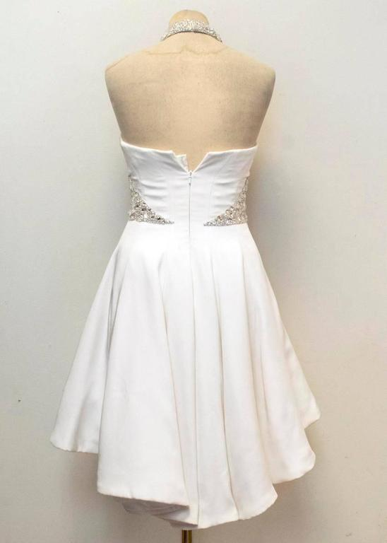 Ralph And Russo White Couture Gown With Crystals For Sale