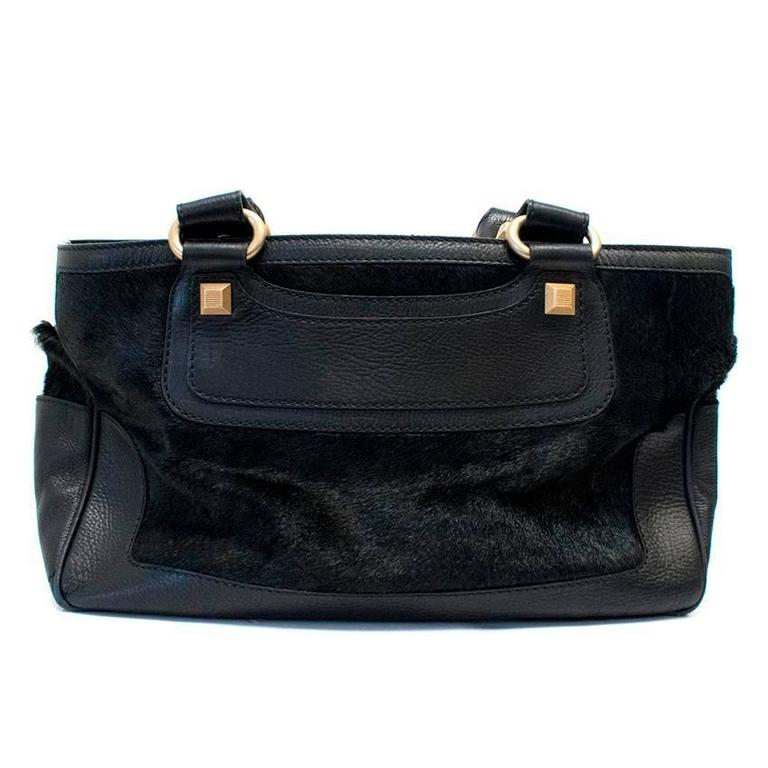 Celine Black Ponyhair Boogie Bag In Good Condition For Sale In London, GB