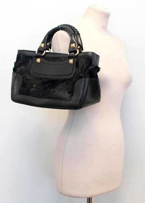 Celine Black Ponyhair Boogie Bag 6
