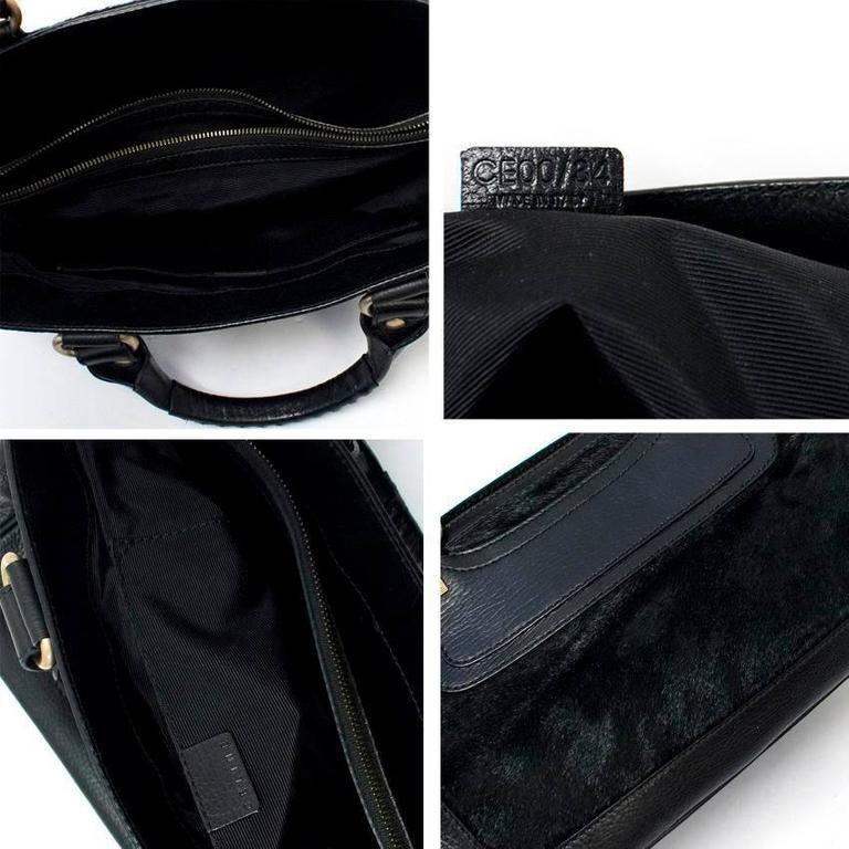Celine Black Ponyhair Boogie Bag 7