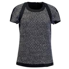 Chanel Black and White Cashmere Blend Tweed T-shirt