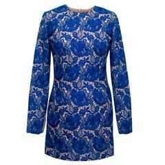 Stella McCartney Blue Celia Guipure Lace and Crepe Dress