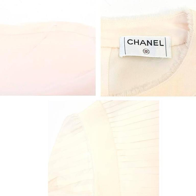 Chanel Cream Pleated Dress with a Drop Waist  3