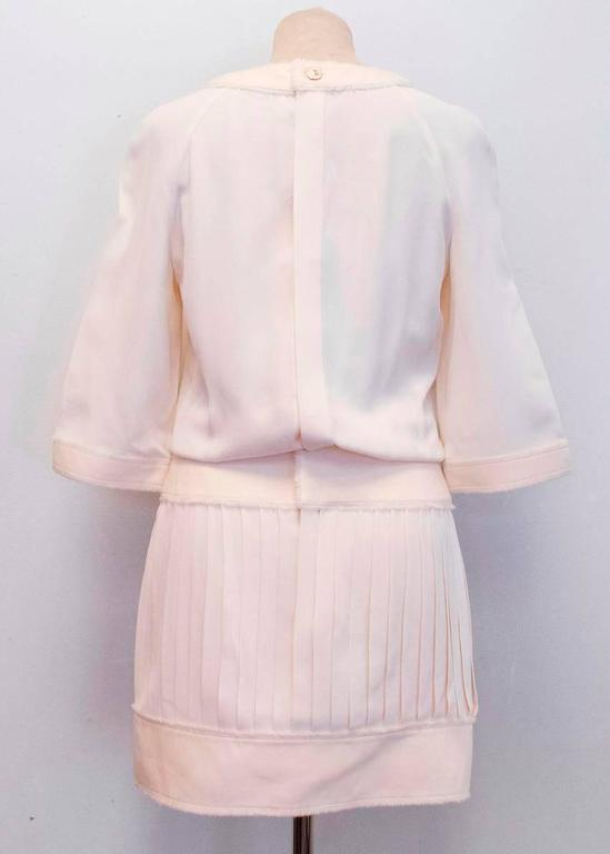 Chanel Cream Pleated Dress with a Drop Waist  4