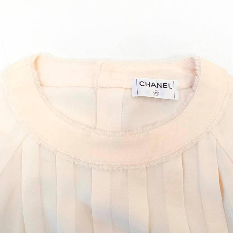 Chanel Cream Pleated Dress with a Drop Waist  5
