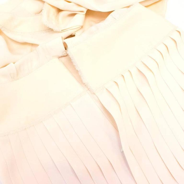 Chanel Cream Pleated Dress with a Drop Waist  9