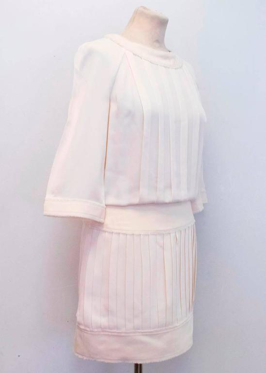 Chanel Cream Pleated Dress with a Drop Waist  6