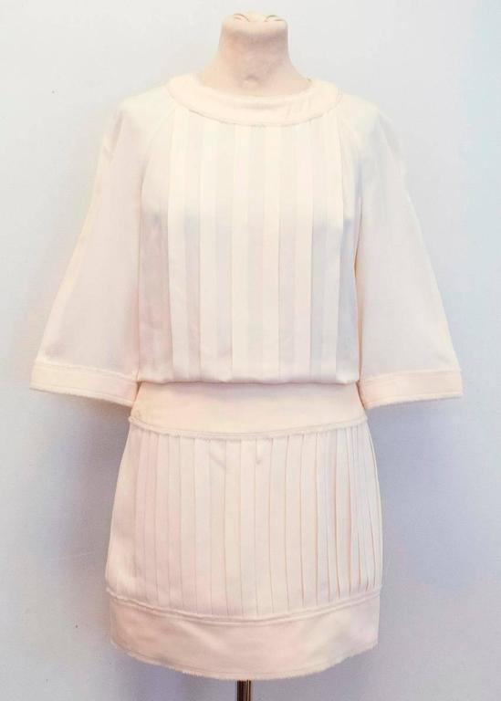 Chanel Cream Pleated Dress with a Drop Waist  7