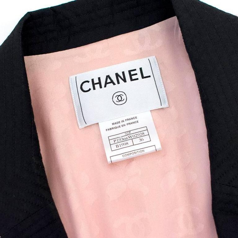 Chanel Silk Tweed Milkshake Pink and Black Dress Coat 7