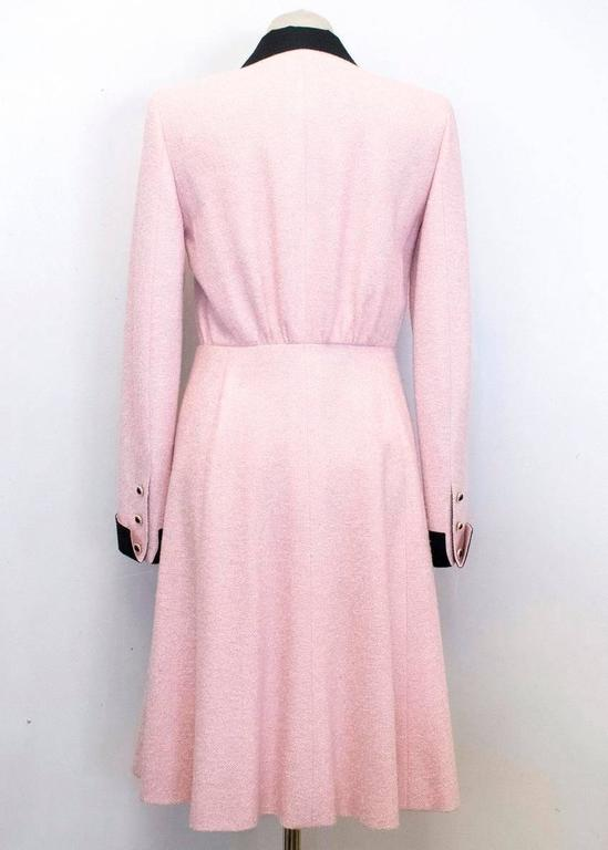 Chanel Silk Tweed Milkshake Pink and Black Dress Coat 9