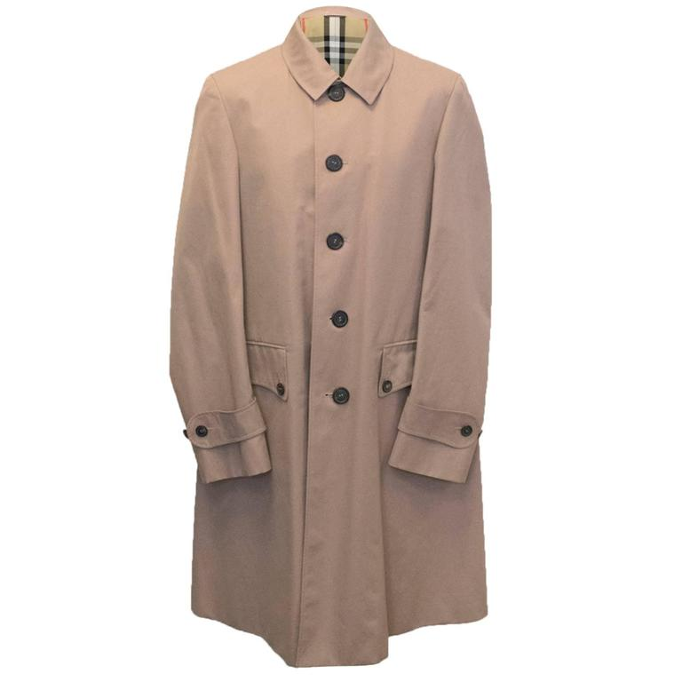 burberry dusty pink men 39 s trench coat for sale at 1stdibs. Black Bedroom Furniture Sets. Home Design Ideas