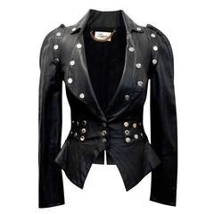 Temperley London Black Studded Leather Jacket