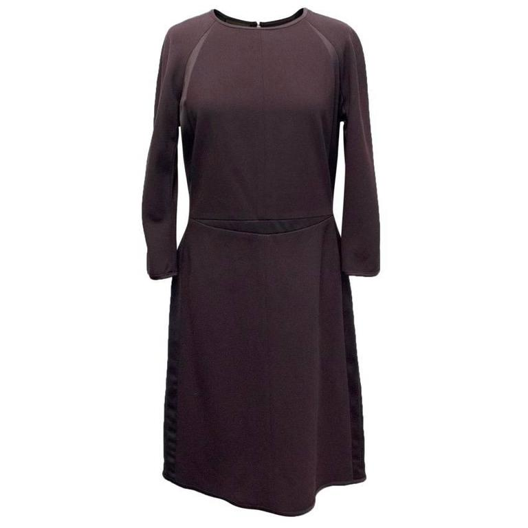 Narciso Rodriguez Brown Wool Midi Dress