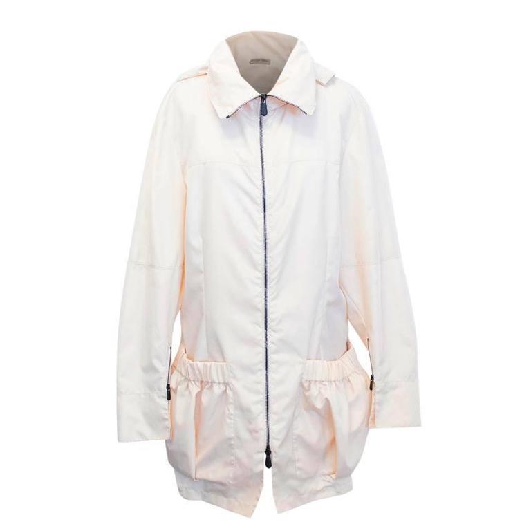 Bottega Veneta Cream Raincoat
