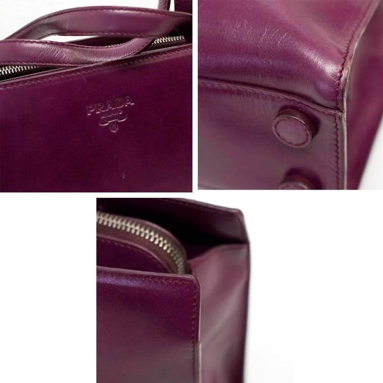 Prada Plum Tote Bag For Sale at 1stdibs
